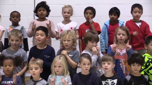 Gagie Kindergarten Fall Music Program 2017