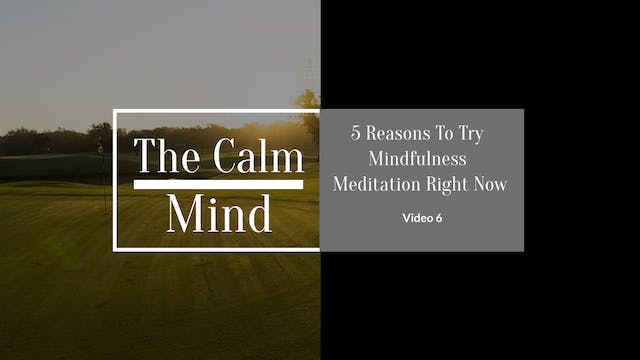 5 Reasons to Try Mindfulness Meditation Right Now