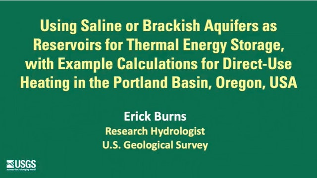 Using Saline or Brackish Aquifers as Reservoirs for Thermal Energy Storage