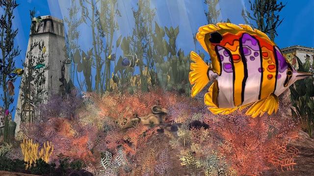 Underwater Atlantis CGI Scene Set