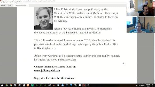 Gerald Clark Interviews Julian Polzin: NOW and ZEN