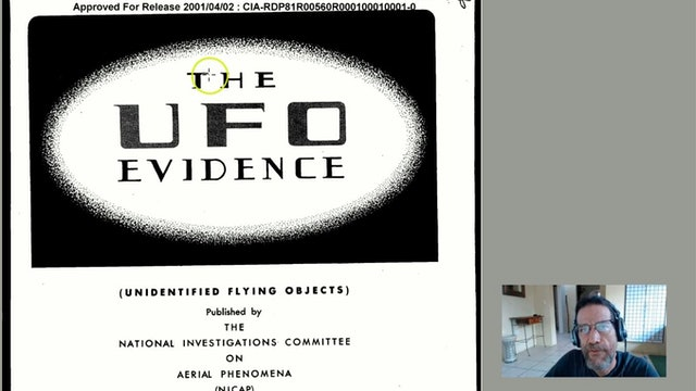Declassifed UFO Briefing CIA NICAP 1964