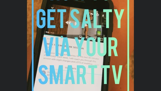 How To Display Get Salty On Your TV