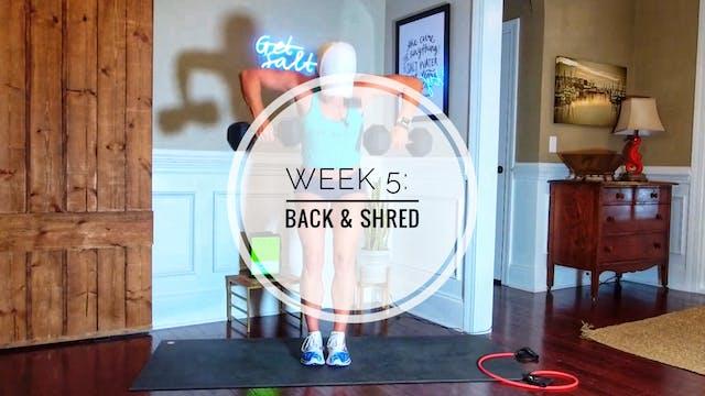 WEEK 5: BACK & SHRED