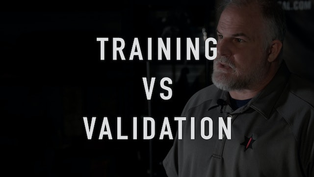 Training vs Validation