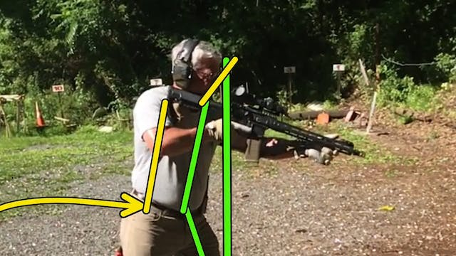 Rifle Stance Video Diagnostic Example 1