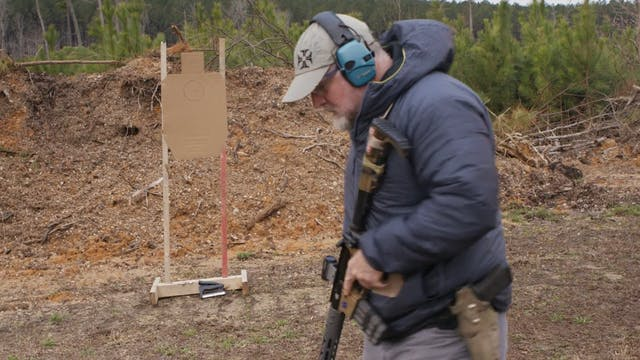 515drill with rifle