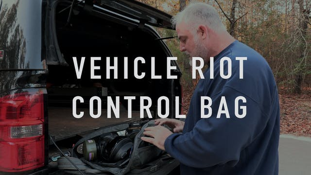 Vehicle Riot Control Bag