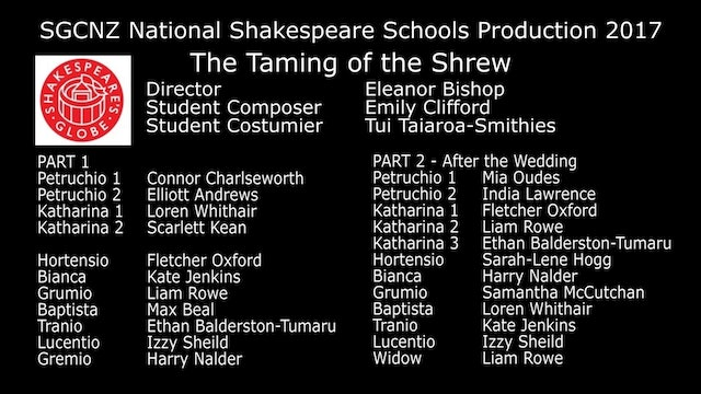 SGCNZ NSSP 2017 The Taming of the Shrew