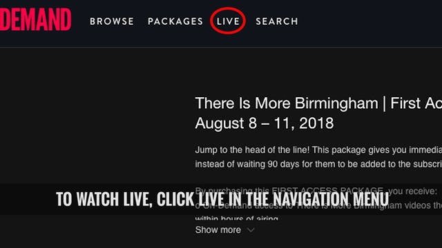 Instructions for Watching LIVE