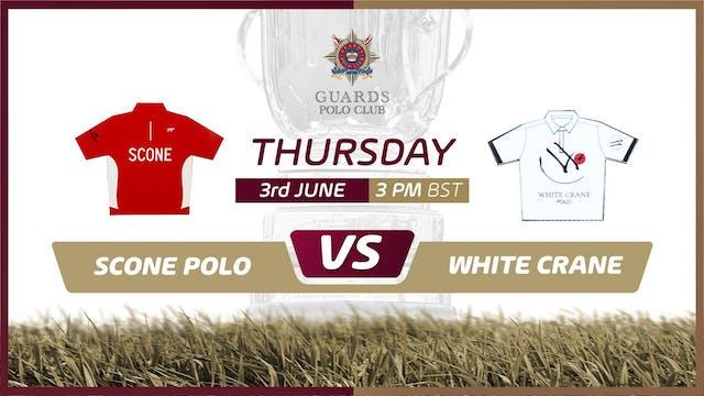 Scone Polo vs White Crane