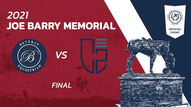2021 - Joe Barry Memorial - Final - B...