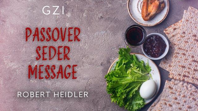 Passover Seder Message