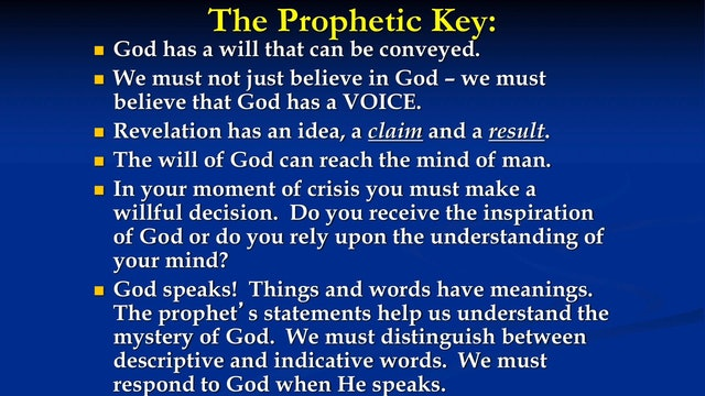A Deeper Look at the Prophetic