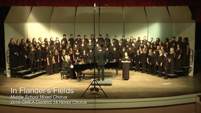 Middle School Mixed - 2018 D14 Honor Chorus