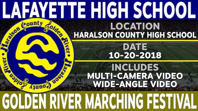 LaFayette High School - Golden River Marching Festival