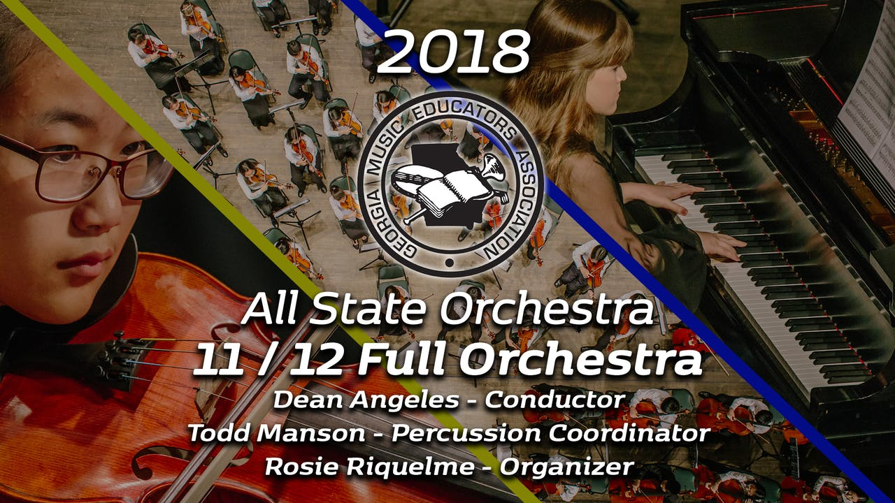 11/12 Full Orchestra: Dean Angeles