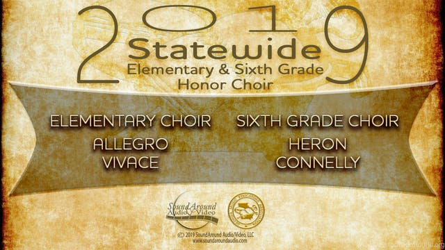 2019 Statewide Honor Chorus