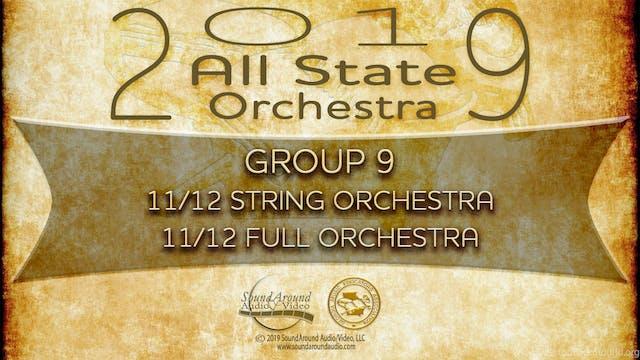 2019 All State Orchestra: 11/12 Grade
