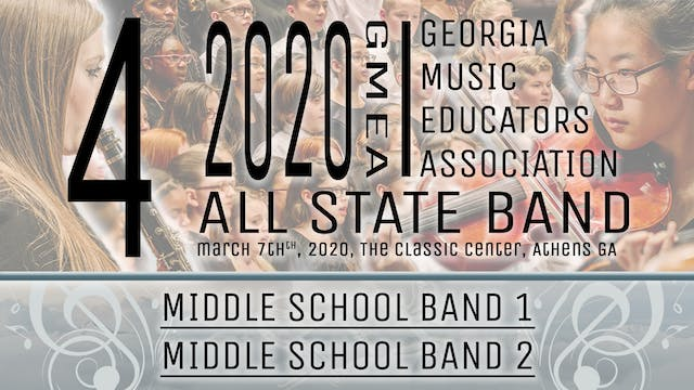 Group 4: Middle School Bands - 20 GMEA All State