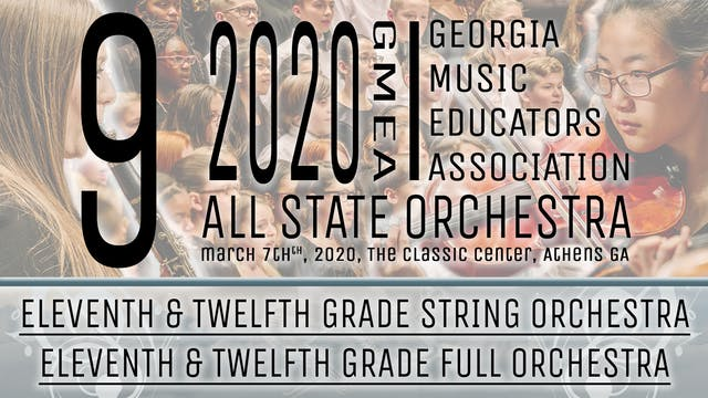 Group 9: 11/12 Orchestras - 20 GMEA All State