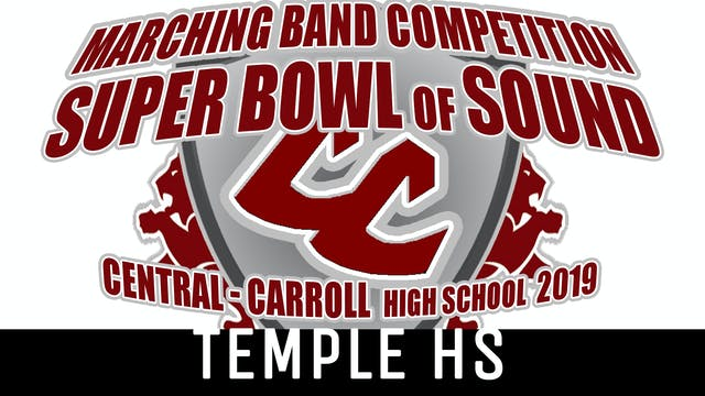 Temple HS - 2019 Super Bowl of Sound