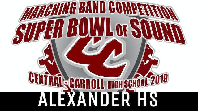 Alexander HS - 2019 Super Bowl of Sound