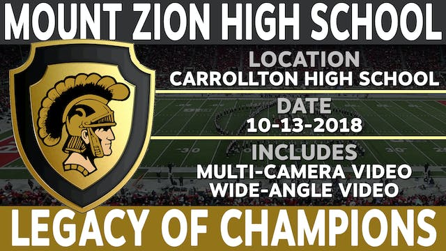 Mount Zion High School - Legacy of Champions