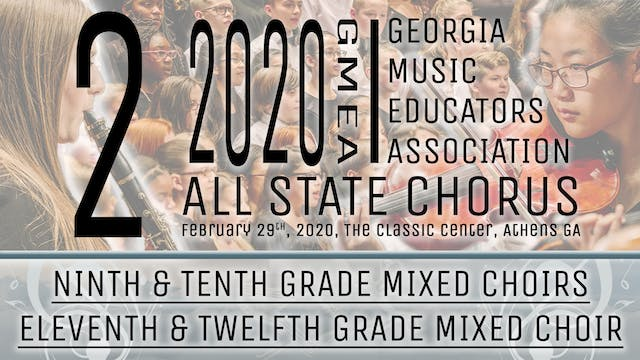 Group 2: Mixed Choirs - 20 GMEA All State