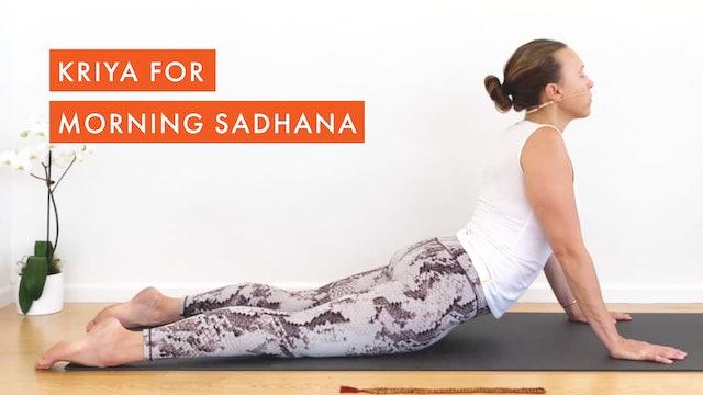 Kriya for Morning Sadhana
