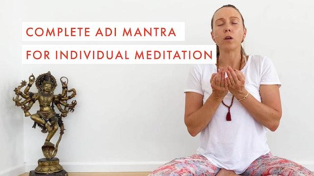 Complete Adi Mantra for Individual Meditation