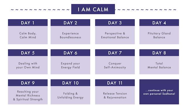 I AM CALM Sadhana Series Calendar