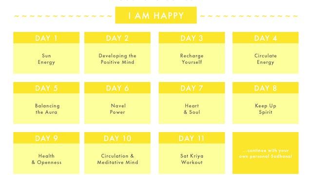 I AM HAPPY Sadhana Series Calendar