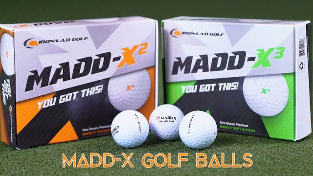 Iron-Lad Madd-x Golfballs