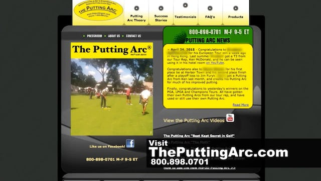 Improve your Putting with The Putting Arc Training Aid