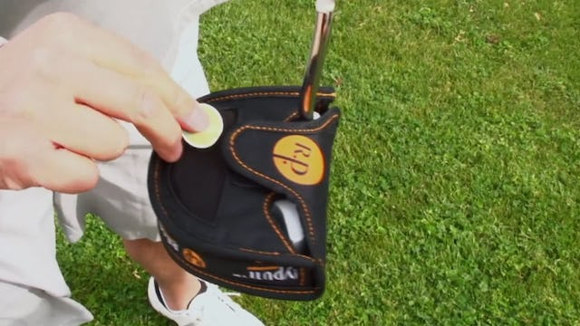 Keep your ball clean with a ReadyPutt Putter Cover