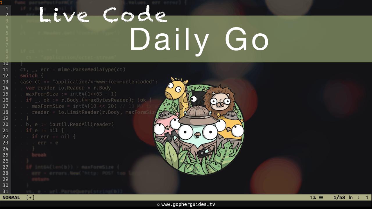 Daily Go - Live Coding