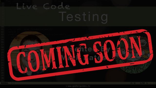 Live Code: Testing