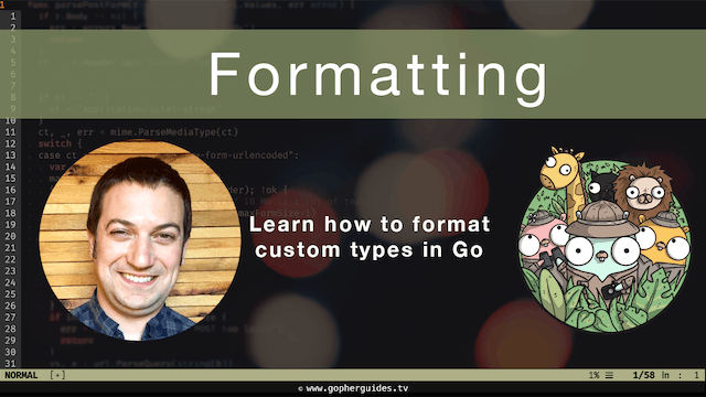 Formatting Custom Types in Go with the `fmt` package.