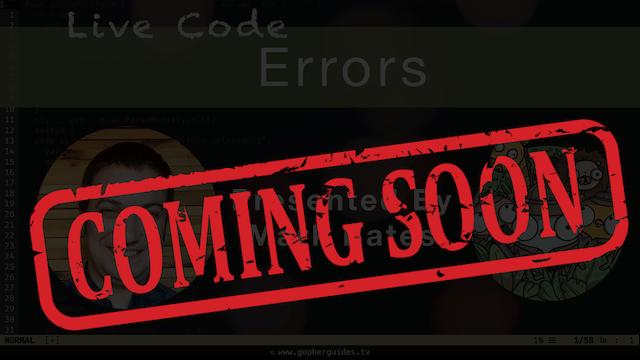 Live Code: Errors