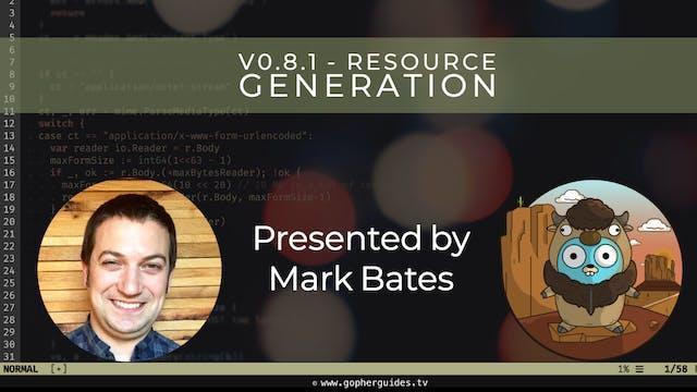 Buffalo v0.8.1 - Resource Generation
