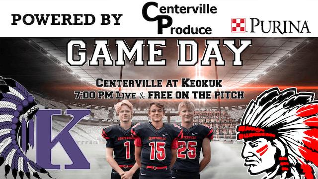Centerville Football at Keokuk 9-20-19