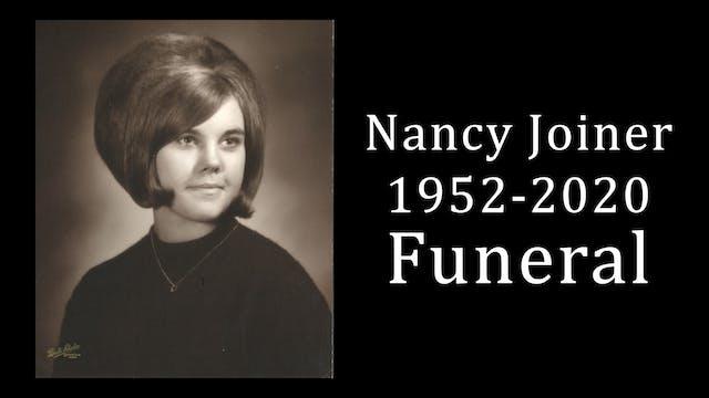 Nancy Joiner Funeral 4-22-20