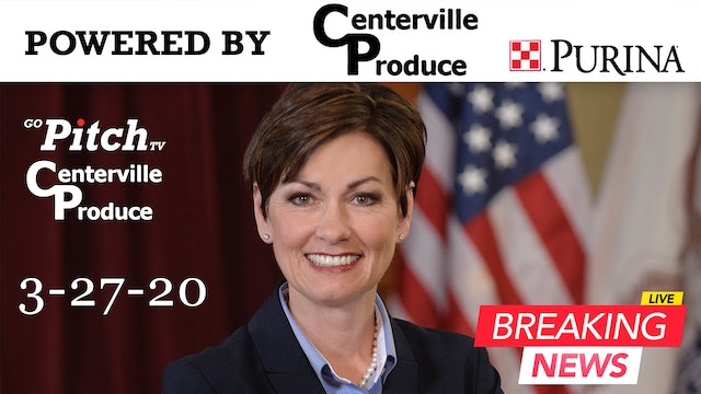 Governor Kim Reynolds Press Conference 3-27-20