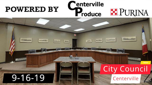 Centerville City Council 9-16-19