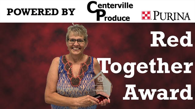 Linda Harlan Receives Red Together Aw...