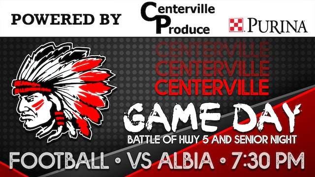 Centerville Football vs Albia 9-18-20