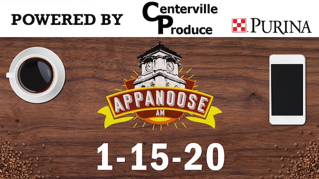 Appanoose AM 1-15-20