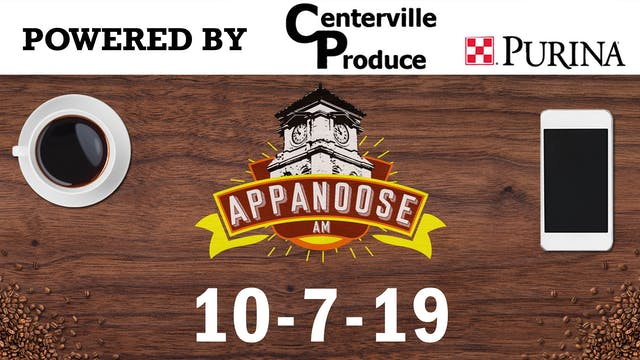 Appanoose AM 10-7-19