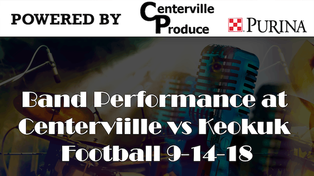 Band Performance at Centerviille vs K...